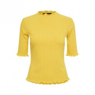 Karen by Simonsen Bluza Bluzki i koszule Żółty Dorośli Kobiety