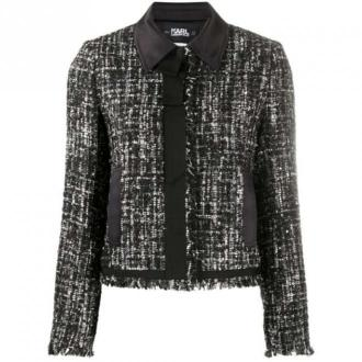 Karl Lagerfeld Sparkle Boucle Jacket Kurtki Czarny Dorośli Kobiety