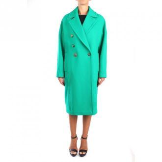 Pinko Faglia Długi płaszcz Płaszcze Zielony Dorośli Kobiety Rozmiar: