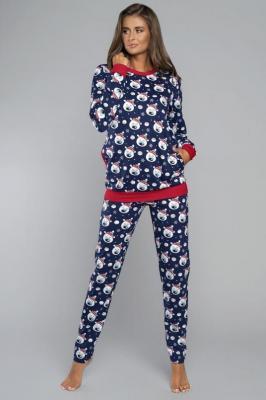 Italian Fashion Hati dł.r. dł.sp. Piżamy piżama - granat