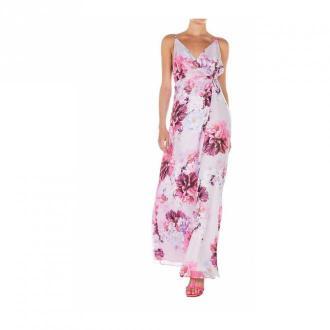 Guess Wrap sukienka z kwiatowym nadrukiem Sukienki Różowy Dorośli