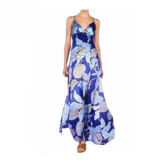 Guess Maxi sukienka z kwiatowym wzorem Sukienki Niebieski Dorośli