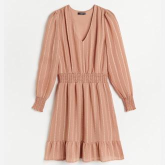 Reserved - Sukienka w paski - Brązowy