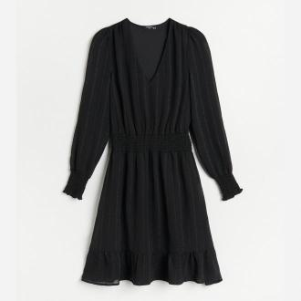 Reserved - Sukienka w paski - Czarny