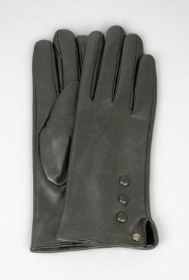 Skórzane rękawiczki z guzikami