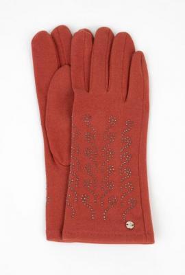 Cienkie rękawiczki z błyszczącą aplikacją