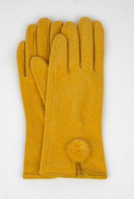 Wełniane rękawiczki z rozcięciem