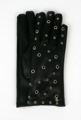 Skórzane rękawiczki z nitami