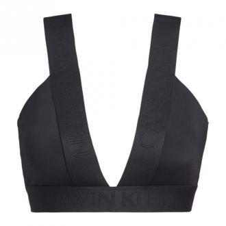 Calvin Klein bikini Top Moda plażowa Czarny Dorośli Kobiety Rozmiar: S