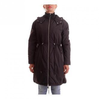 Calvin Klein K20K202049 Parka Kurtki Czarny Dorośli Kobiety Rozmiar: