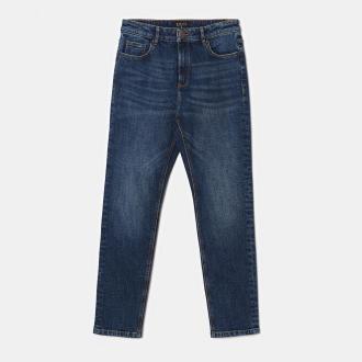 Mohito - Spodnie straight fit - Granatowy