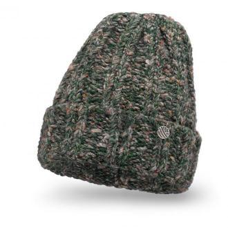 Ciepła czapka damska z wełną - Zielona