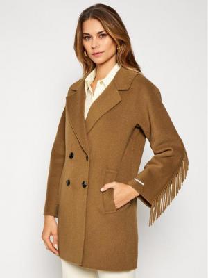 Marella Płaszcz przejściowy Colour 30860106 Brązowy Regular Fit