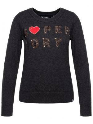 Superdry Sweter W6100026A Szary Regular Fit