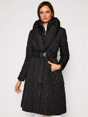 Guess Płaszcz zimowy Wallis W0BL05 WDEY0 Czarny Regular Fit