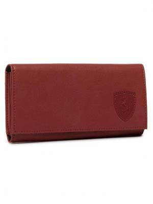 Puma Duży Portfel Damski Sf Ls Wallet F 053380 02 Czerwony