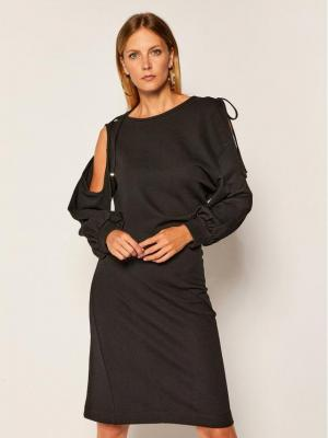Diesel Sukienka dzianinowa D-Revert A00156 0IAYL Czarny Regular Fit