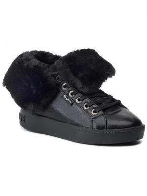 Pepe Jeans Sneakersy Brixton Flap PLS30889 Czarny