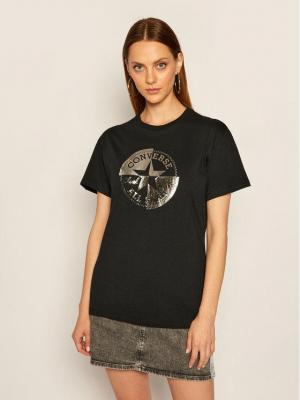 Converse T-Shirt Chuck Taylor Rivalry 10020520-A02 Czarny Relaxed Fit