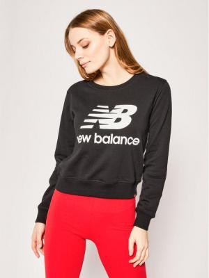 New Balance Bluza Essentials Crew WT91585 Czarny Relaxed Fit