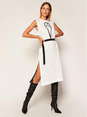 Diesel Sukienka codzienna D-Fairy A00112 0HAXP Biały Regular Fit