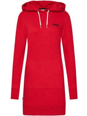 Superdry Sukienka dzianinowa Orange Label W8010375A Czerwony Regular Fit