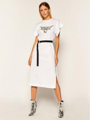 Diesel Sukienka codzienna D-Flix-C A00272 0QANW Biały Regular Fit
