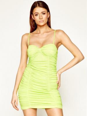 Pepe Jeans Sukienka koktajlowa DUA LIPA Telma PL952688 Zielony Slim Fit