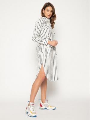 Silvian Heach Sukienka koszulowa Kouba PGP20421VE Biały Regular Fit