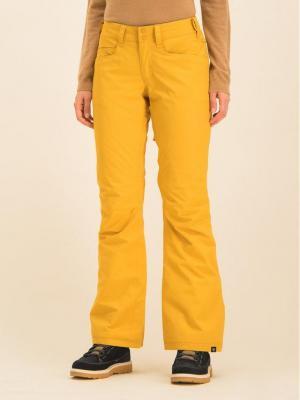 Roxy Spodnie snowboardowe Backyard ERJTP03091 Żółty Slim Fit