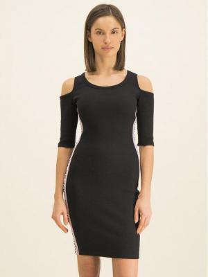 Guess Sukienka dzianinowa Alma W01K0V K9JE0 Czarny Slim Fit