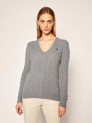 Polo Ralph Lauren Sweter Kimberly Wool/Cashmere 211508656016 Szary Regular Fit
