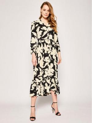 Calvin Klein Sukienka koszulowa 3/4 Slv Button K20K201928 Beżowy Regular Fit