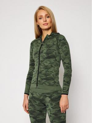 EA7 Emporio Armani Bluza techniczna 6HTM01 TJ6NZ 2218 Zielony Slim Fit