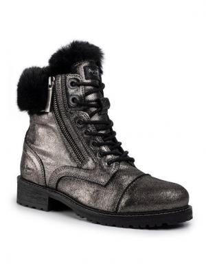 Pepe Jeans Trapery Melting Bling PLS50375 Brązowy