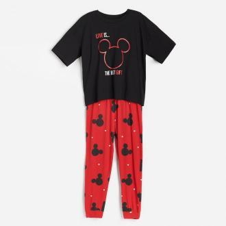 Reserved - Piżama ze spodniami Myszka Miki - Czarny