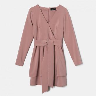 Mohito - Kopertowa sukienka Eco Aware - Różowy