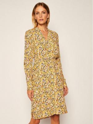 Calvin Klein Sukienka koszulowa Pkt Shirt K20K202193 Żółty Regular Fit