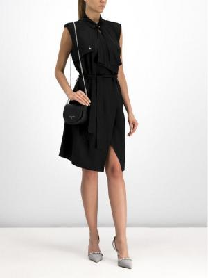 Patrizia Pepe Sukienka letnia 2J2222/A3KN-K103 Czarny Regular Fit