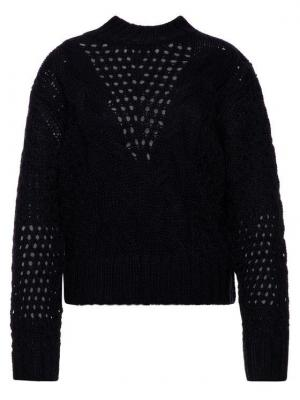 Pepe Jeans Sweter Helaia PL701525 Granatowy Regular Fit