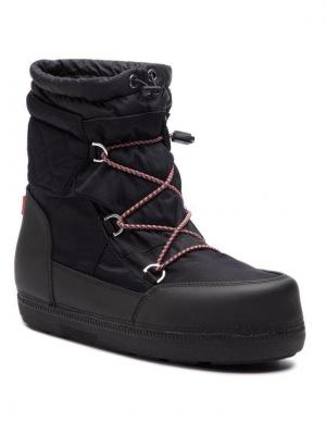 Hunter Śniegowce Org Snow Short Quilted Boot WFS2018WWR Czarny