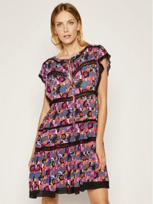 Silvian Heach Sukienka letnia Buyao CVP20120VE Kolorowy Regular Fit