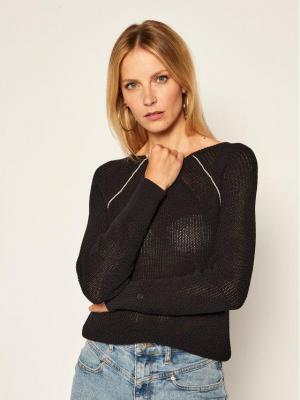 Calvin Klein Sweter Coiled K20K202040 Czarny Regular Fit