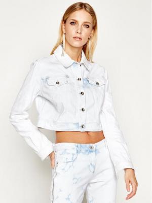 Patrizia Pepe Kurtka jeansowa 8J0923/A6E6-C195 Biały Regular Fit
