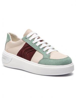 Geox Sneakersy D Ottaya F D92BYF 01122 C5K3U Beżowy