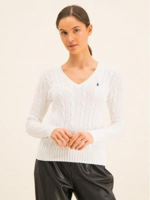 Polo Ralph Lauren Sweter Kimberly 211580008005 Biały Regular Fit