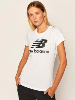 New Balance T-Shirt Esse St Logo Tee NBWT9154 Biały Slim Fit