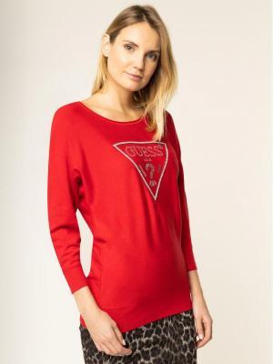 Guess Sweter Nadine W01R94 Z2760 Czerwony Regular Fit