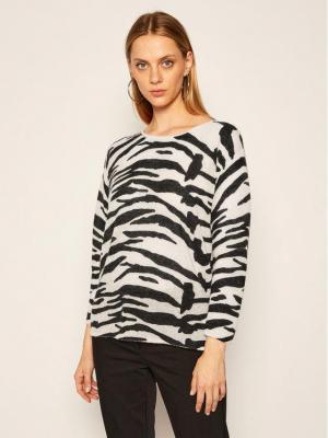 Calvin Klein Sweter Alpaca Blend Zebra K20K202041 Beżowy Relaxed Fit