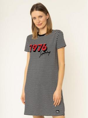 Superdry Sukienka codzienna Chrissi W8000040A Czarny Regular Fit